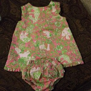 Lily Pulitzer Cap sleeve dress with bloomers